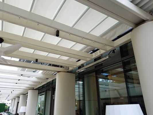 Retractable Roof Canopy at the Waldorf Astoria Beverly Hills
