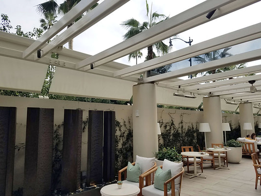 Retractable Screens at the Waldorf Astoria Beverly Hills