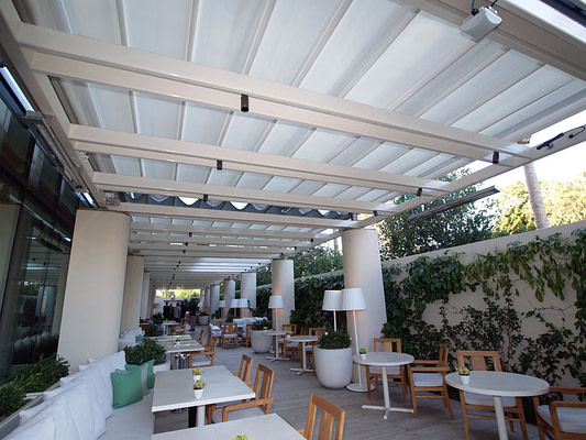 Retractable Canopies at the Waldorf Astoria Beverly Hills