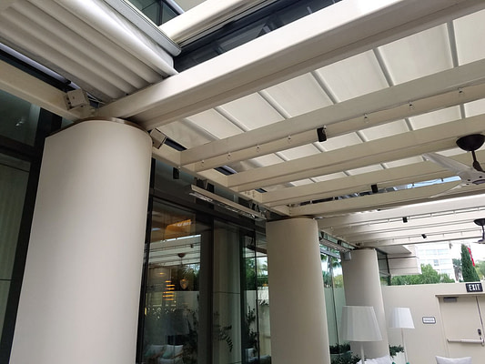 Retractable Roof at the Waldorf Astoria Beverly Hills
