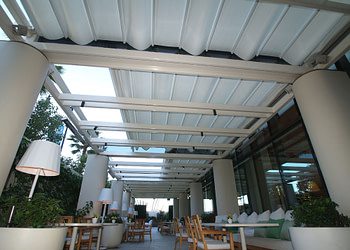 Retractable Roof Systems at the Waldorf Astoria Beverly Hills