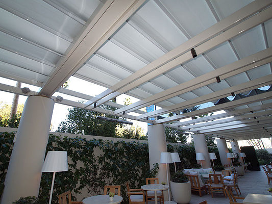 Retractable Roof System at the Waldorf Astoria Beverly Hills